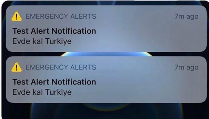 iPhone kullanıcılarına gelen 'Evde Kal Türkiye' Alarmı