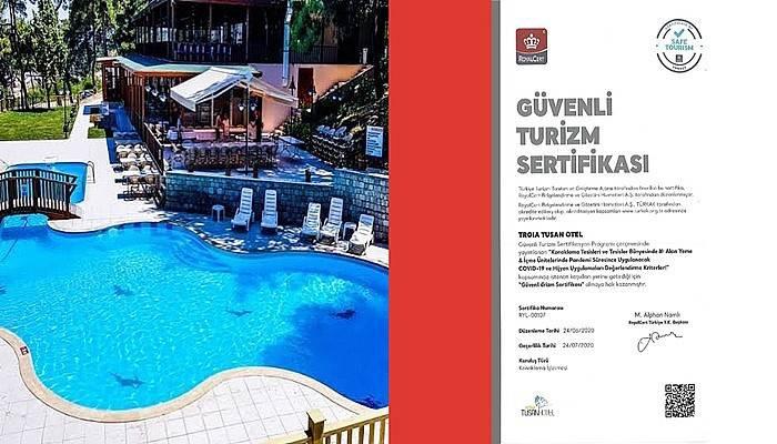 Troia Tusan Hotel sertifikasını aldı