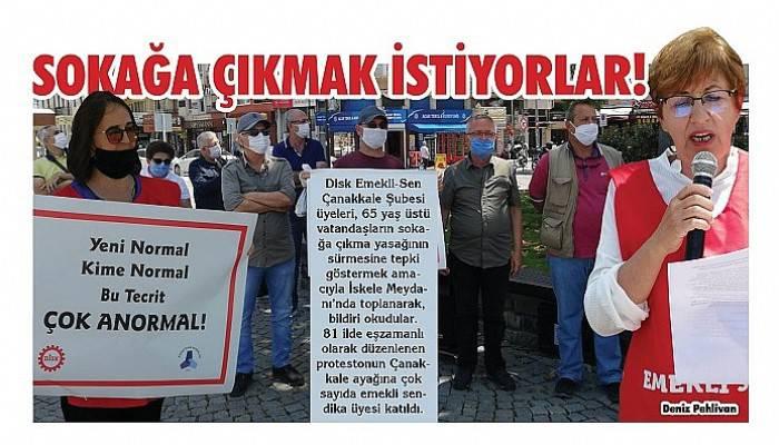 65 yaş üzeri sokağa çıkma yasağını protesto ettiler