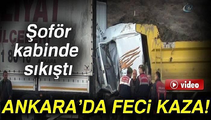 Başkent'te trafik kazası: 1 ölü!