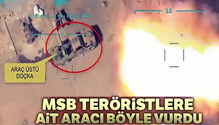 Barış Pınarı Harekatı'nda teröristlere ait araca tam isabet
