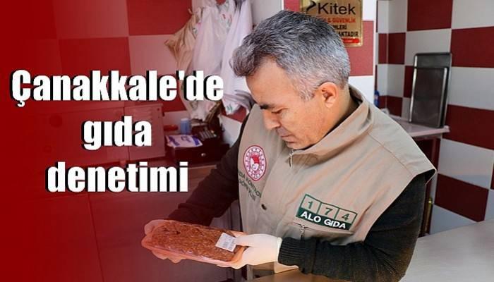 Çanakkale'de gıda denetimi
