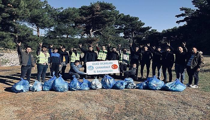 Ülkü Ocaklarından Çanakkale'de çevre temizliği