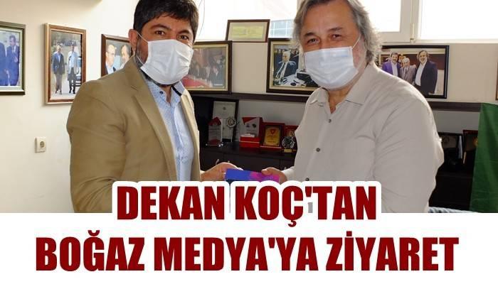 Spor Bilimler Fakültesi Dekanı Koç'tan Boğaz Medya'ya ziyaret