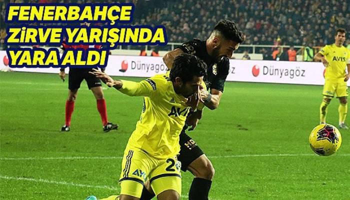 Yeni Malatya Fenerbahçe maçı kaç kaç bitti?