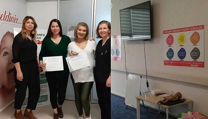 Lapseki Devlet Hastanesi Gebe Okulu mezunlarını vermeye devam ediyor