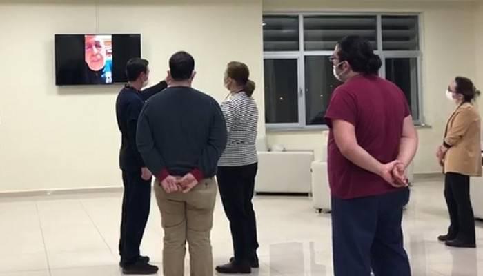 Rektör Murat, İnteraktif Video Konferans Sistemiyle Hastane Çalışanlarına Seslendi