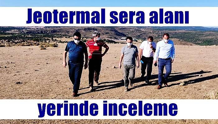 Jeotermal sera alanı yerinde inceleme