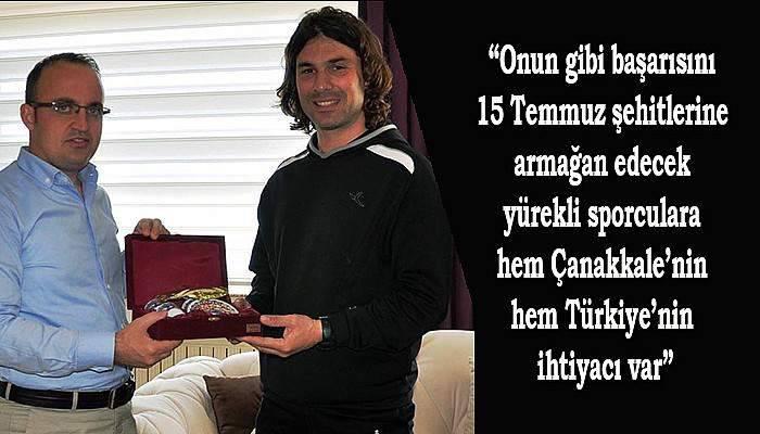 Turan'dan rekortmene kutlama ve övgü