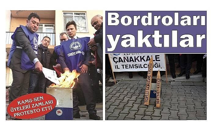 KAMU-SEN ÜYELERİ ZAMLARI PROTESTO ETTİ