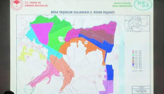 BİGA'DA TAŞOLUK SULAMASI 2. KISIM İNŞAATI TOPLANTISI YAPILDI