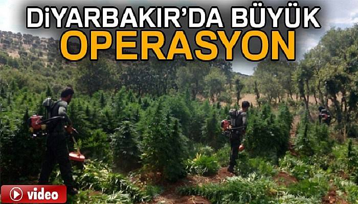 Diyarbakır kırsalında büyük operasyon sürüyor
