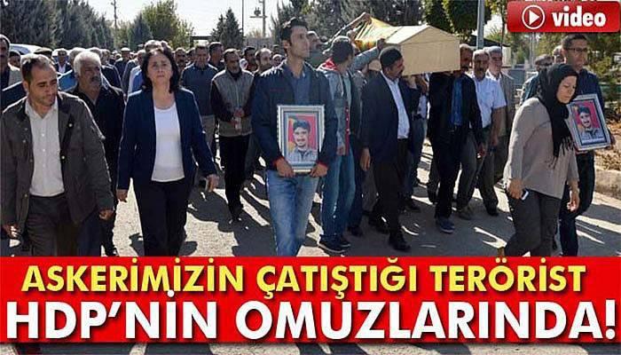 HDP'li Vekil Teröristin Cenazesinde