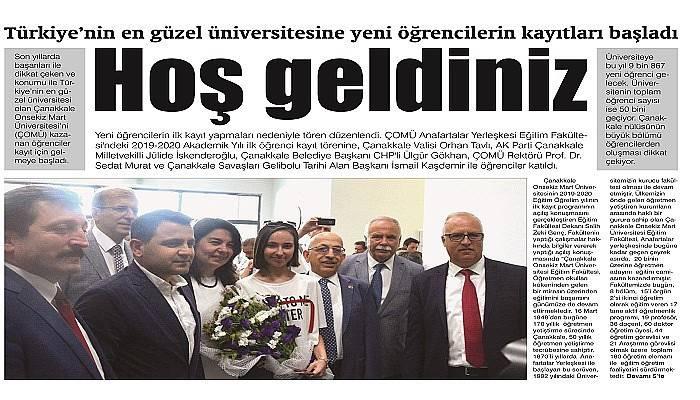 Türkiye'nin en güzel üniversitesine kayıtlar başladı Hoş geldiniz (VİDEO)