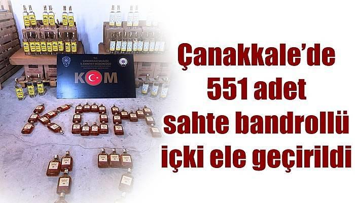 Çanakkale'de 551 adet sahte bandrollü içki ele geçirildi