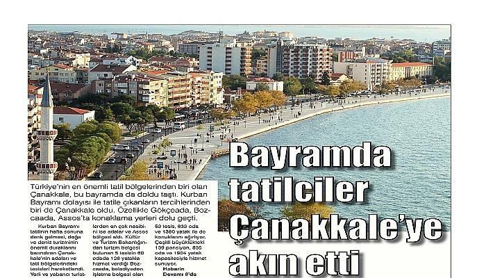 Bayramda tatilciler Çanakkale'ye akın etti