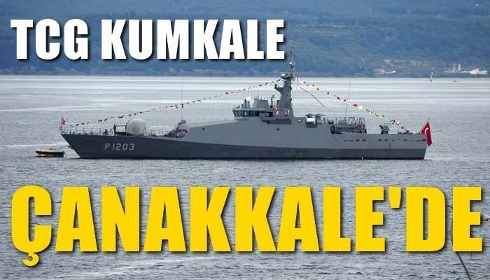 TCG Kumkale, 23 Nisan kutlamaları için Çanakkale'de (VİDEO)