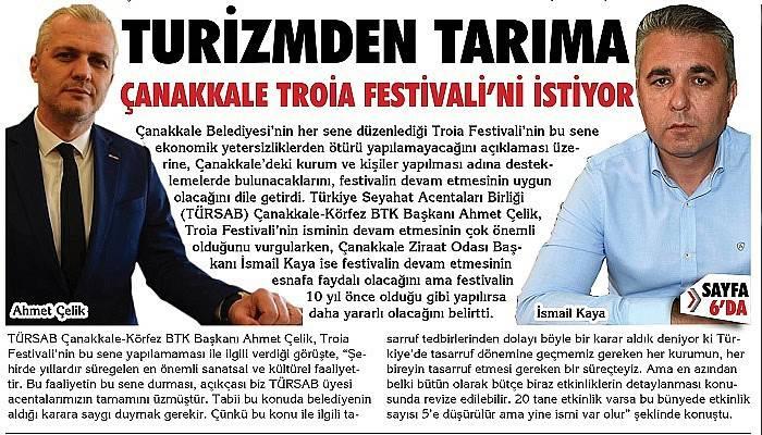 """""""Troia Festivali'nin isminin varlığı bile çok büyük bir referanstır"""""""