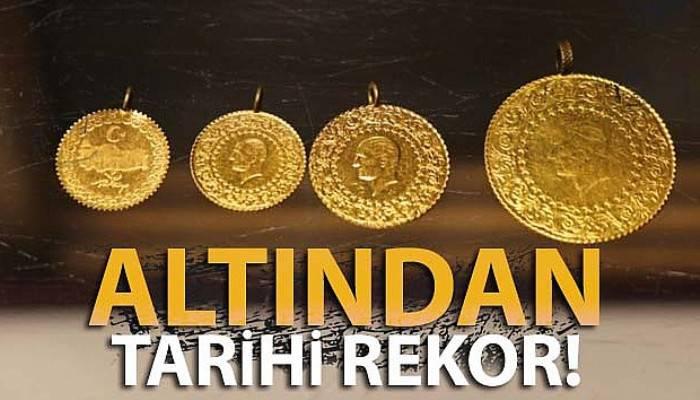 Altının gramı 335 liraya ulaşarak tüm zamanların rekorunu kırdı.