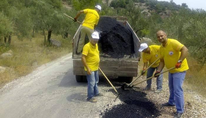 Ayvacık'ta Asfaltlama Çalışmaları