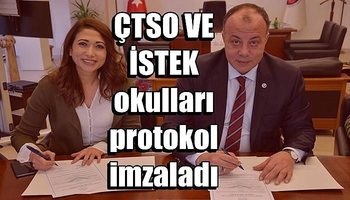 ÇTSO VE İSTEK okulları protokol imzaladı