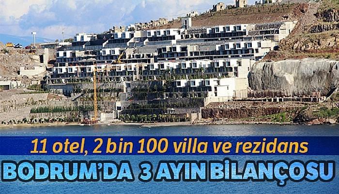 Bodrum'da 3 ayda 11 otel, 2 bin 100 villa ve rezidans yıkıldı