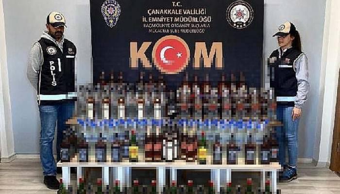 Çanakkale'de kaçak ve sahte içki operasyonu