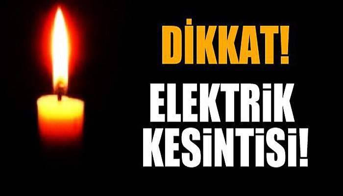 Çanakkale'de hafta sonu elektrik kesintisi!