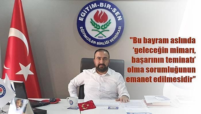 Eğitim-Bir-Sen Çanakkale Başkanı Can'dan 19 Mayıs Mesajı