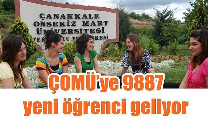 ÇOMÜ'ye 9887 yeni öğrenci geliyor