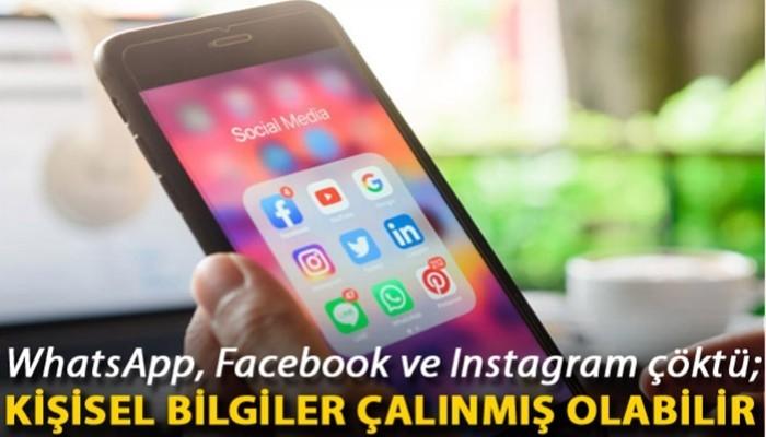 WhatsApp, Facebook ve Instagram çöktü; kişisel bilgiler çalınmış olabilir (VİDEO)