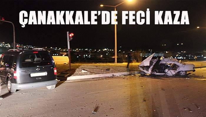 Çanakkale'de feci kaza! 3'ü ağır 4 yaralı