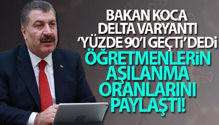 Sağlık Bakanı Koca: 'Şu an Delta varyantı Türkiye'de yüzde 90'ı geçti'