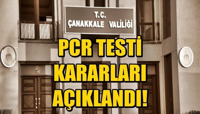 PCR Zorunluluğu ve İzolasyon Yurdu Kararı!