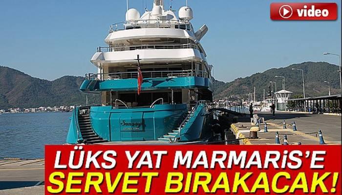 Hintli iş adamının lüks yatı Marmaris'e servet bırakacak