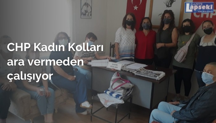 CHP Kadın Kolları ara vermeden çalışıyor