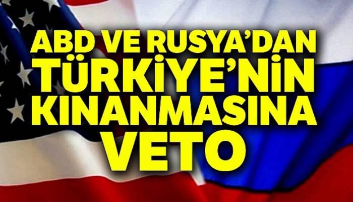 ABD ve Rusya, Türkiye'nin BMGK'de kınanmasını veto etti