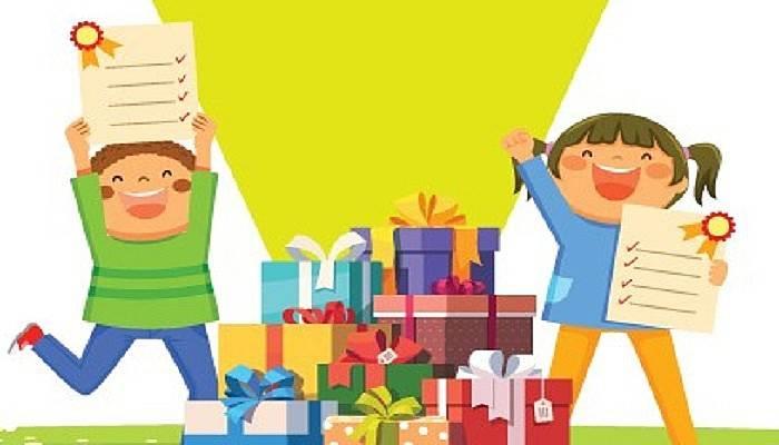 Sürpriz karne hediyeleri 17 Burda'da