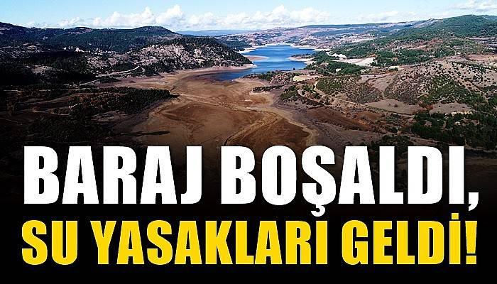 Çanakkale'de baraj boşaldı, su kullanımıyla ilgili yasaklar geldi (VİDEO)