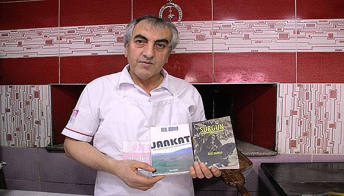 26 yıllık pidecinin 5 romanı yayımlandı (VİDEO)