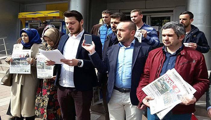 Kılıçdaroğlu'na 'evet' gazetesi yolladılar (VİDEO)