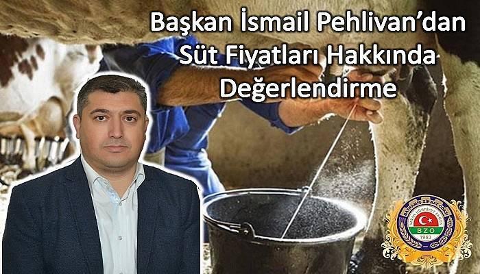 BAŞKAN PEHLİVAN'DAN USK'YA ACİL ÇAĞRI: 'SÜTTE ZAM BEKLENTİSİ'