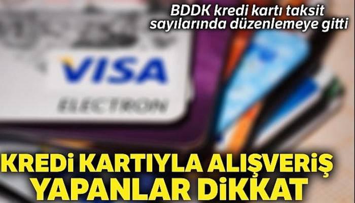 Kredi kartında taksit sayısı artırıldı