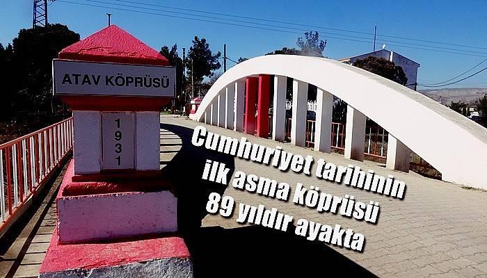 Cumhuriyet tarihinin ilk asma köprüsü 89 yıldır ayakta (VİDEO)