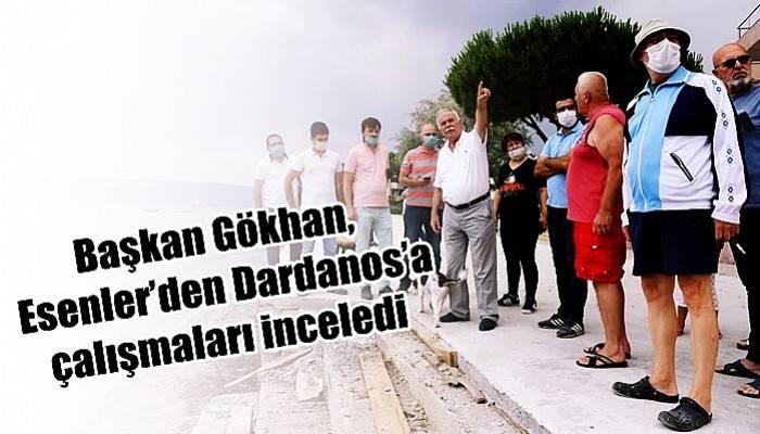 Başkan Gökhan, Esenler'den Dardanos'a çalışmaları inceledi