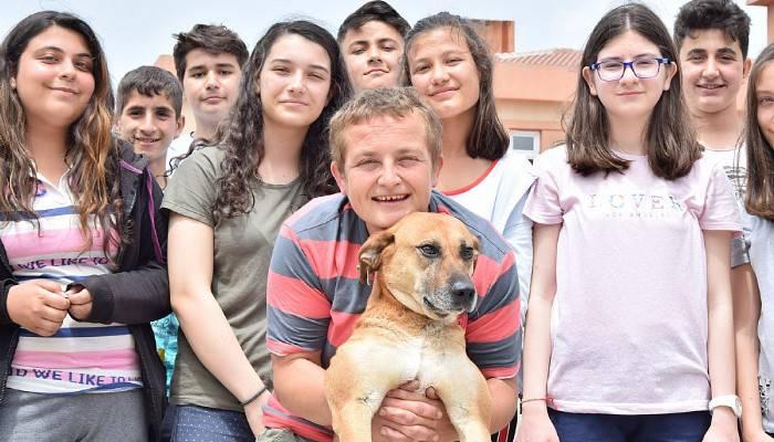 Öğrenciler kanserli köpeği tedavi ettirdi (VİDEO)