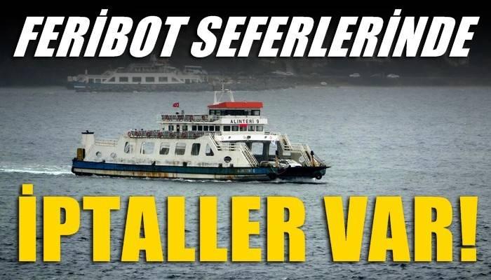Bozcaada'ya bazı feribot seferleri iptal edildi (VİDEO)