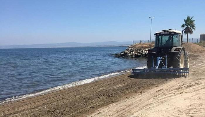 Karabiga'da Sahil Temizleme Çalışmaları Devam Ediyor
