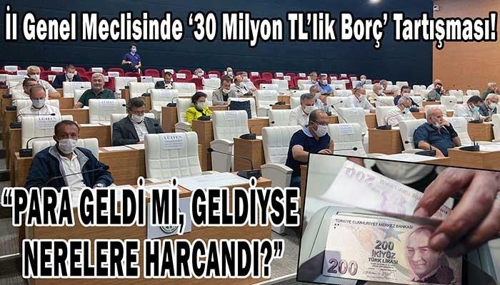 İl Genel Meclisinde '30 Milyon TL'lik Borç' Tartışması!