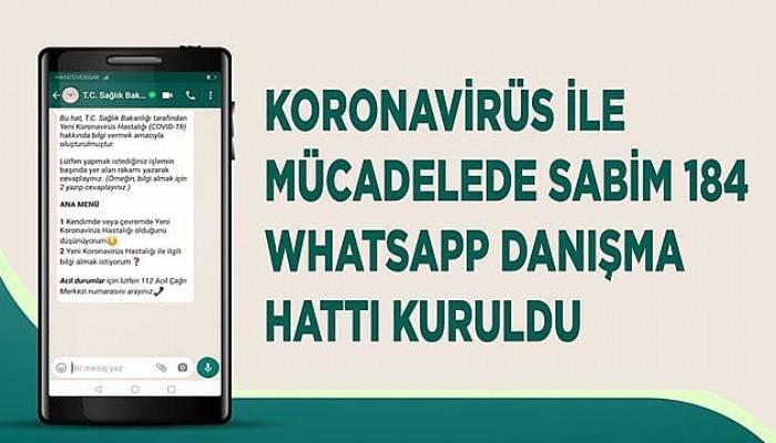 Sağlık Bakanlığı'ndan koronavirüs whatsapp danışma hattı
